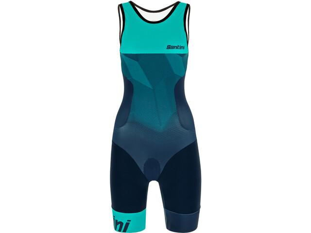 Santini Imago Combinaison de triathlon SL Femme, acqua